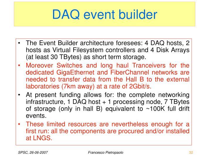 DAQ event builder