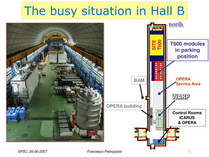 The busy situation in Hall B