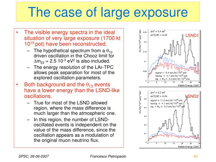 The case of large exposure