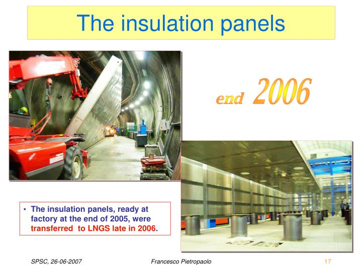 The insulation panels