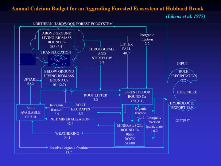 Annual Calcium Budget for an Aggrading Forested Ecosystem at Hubbard Brook