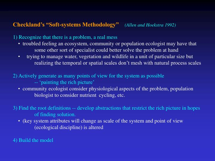 "Checkland's ""Soft-systems Methodology"""