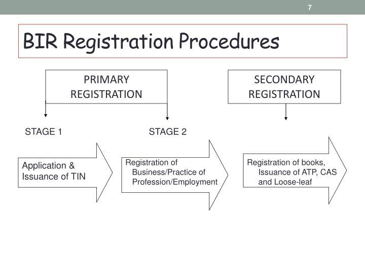 BIR Registration Procedures