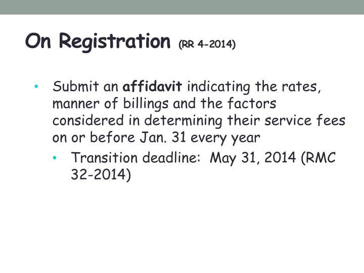 On Registration