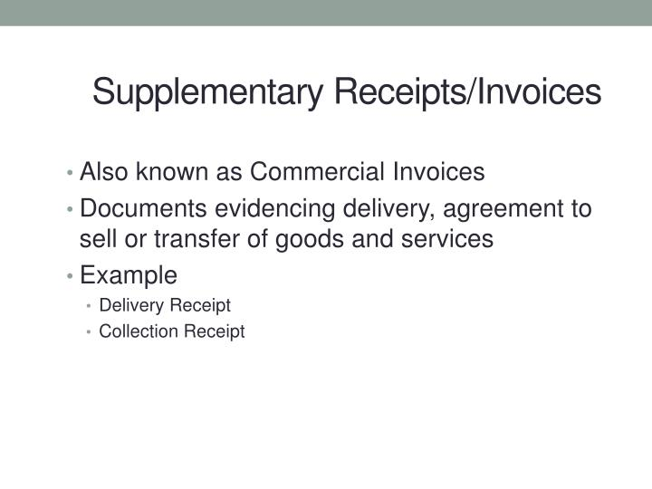 Also known as Commercial Invoices