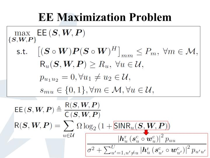 EE Maximization Problem