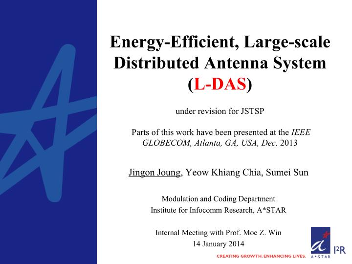 Energy-Efficient, Large-scale Distributed Antenna System (