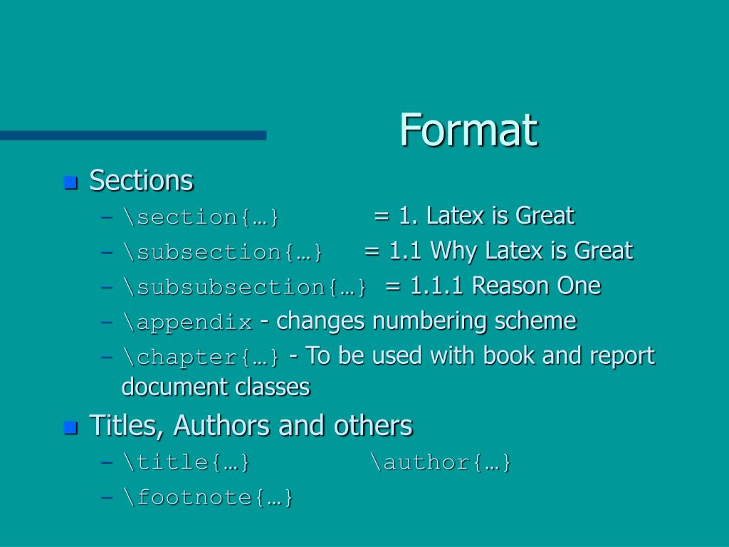 PPT - Introduction to Latex PowerPoint Presentation - ID:4223511
