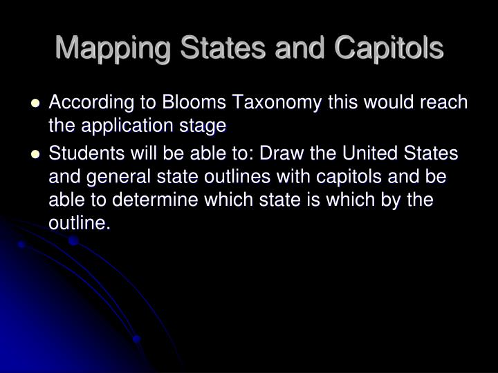 Mapping States and Capitols