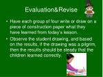 evaluation revise