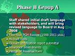 phase ii group a