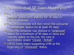 drs individual se case movement