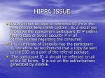 hippa issue
