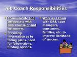 job coach responsibilities