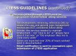 ltess guidelines continued1