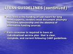 ltess guidelines continued2