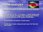 ltess history