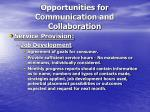 opportunities for communication and collaboration2