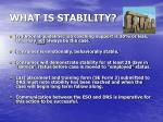 what is stability
