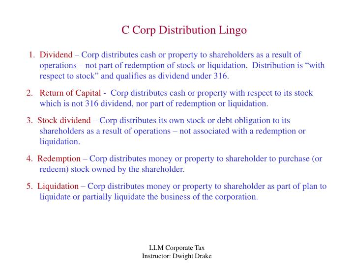 How is a liquidating dividend taxed