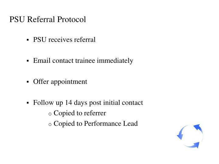 PSU Referral Protocol