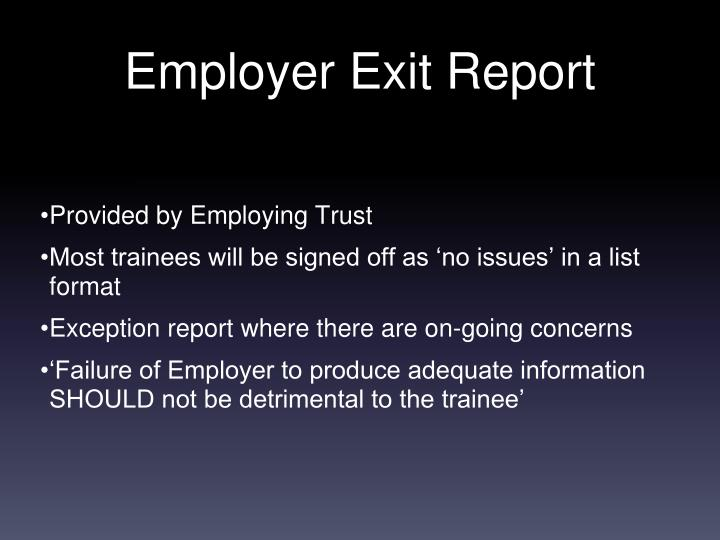 Provided by Employing Trust