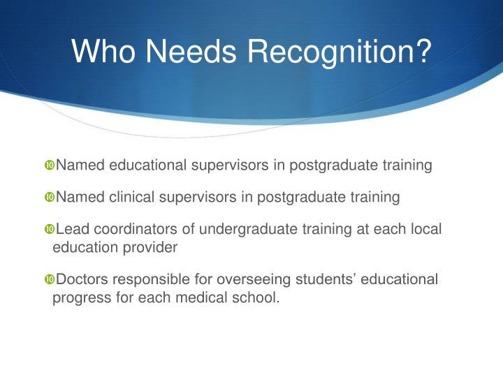 Named educational supervisors in postgraduate training