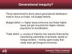 generational inequity