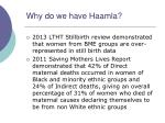 why do we have haamla