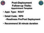 post deployment follow up visits appointment template
