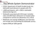 the whole system demonstrator