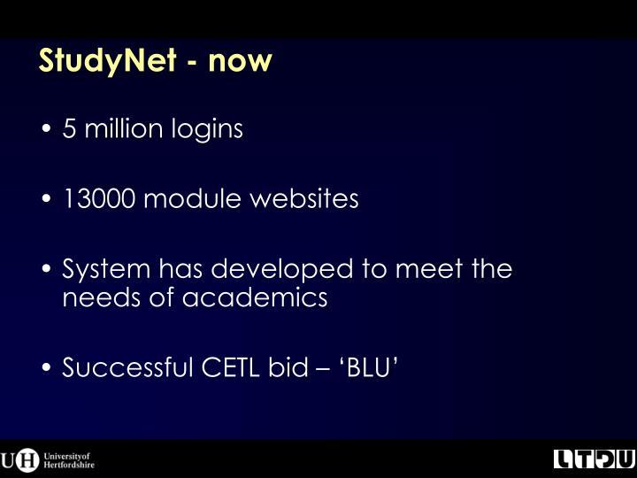 StudyNet - now