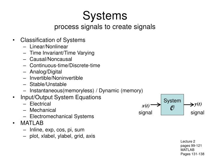 Systems process signals to create signals