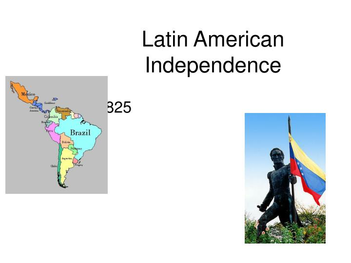 latin american independence A series of independence movements in the americas in the late 1700s and early 1800s are sparked by the enlightenment and conflict in europe this includes.