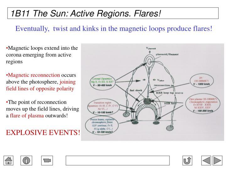 1B11 The Sun: Active Regions. Flares!