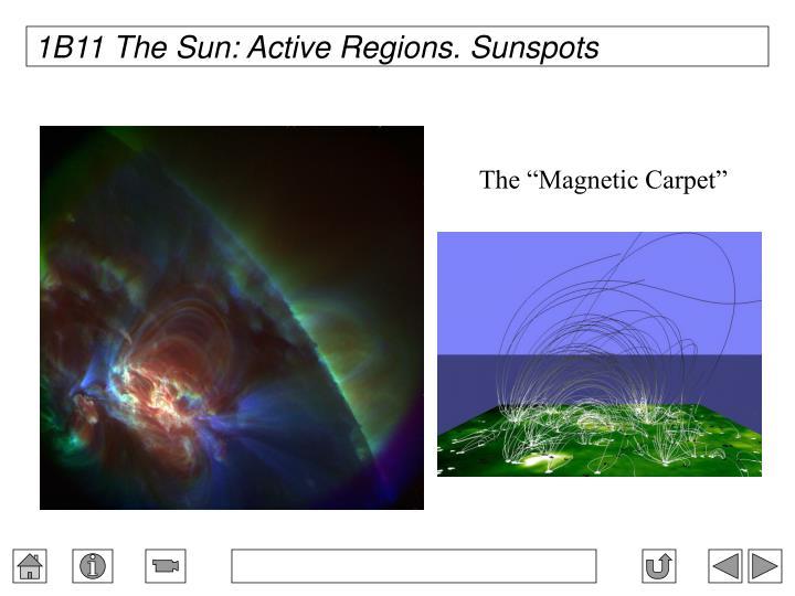 1B11 The Sun: Active Regions. Sunspots