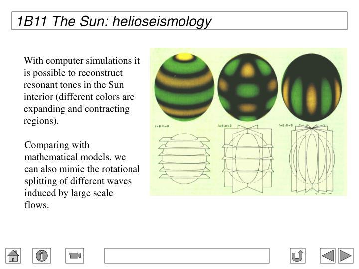 1B11 The Sun: helioseismology