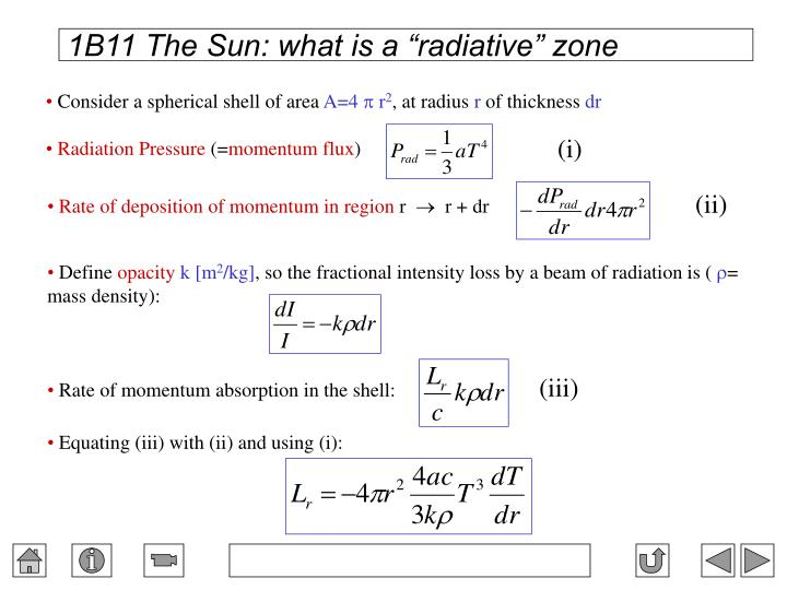 """1B11 The Sun: what is a """"radiative"""" zone"""