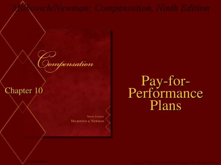 pay for performance plans n.