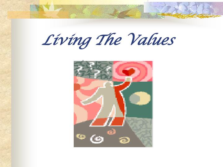 living the values n.