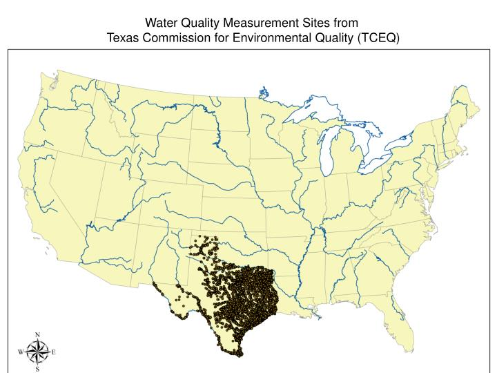 Water Quality Measurement Sites from