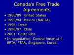canada s free trade agreements