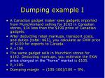 dumping example i