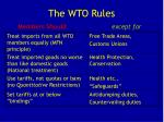 the wto rules