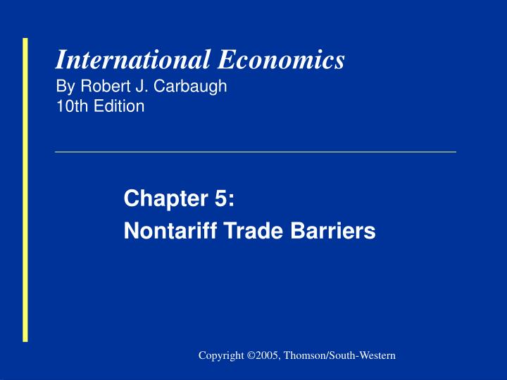trade barriers 2 essay K7 a passage to india: quantifying internal and external barriers to trade van leemput, eva international finance discussion papers board of governors of the federal reserve system.