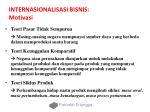 internasionalisasi bisnis motivasi