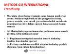 metode go international franchising