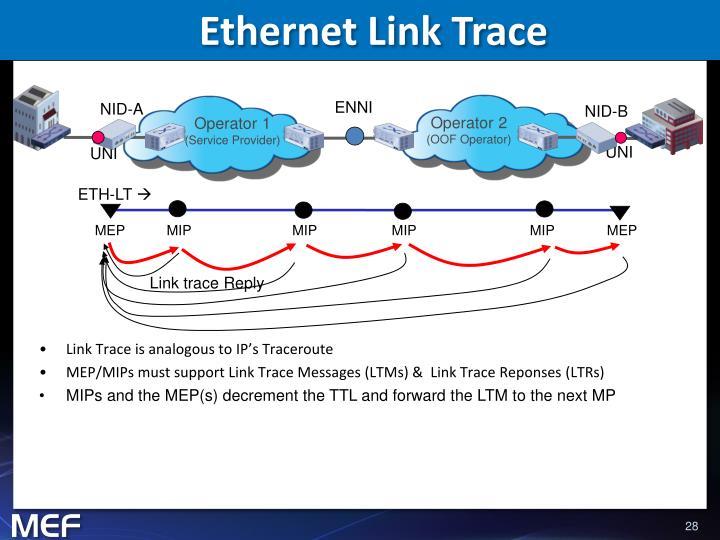 Ethernet Link Trace