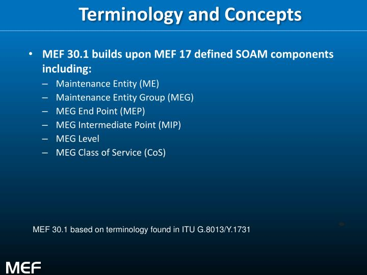 Terminology and Concepts
