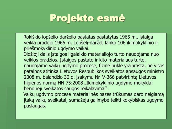 Projekto esm